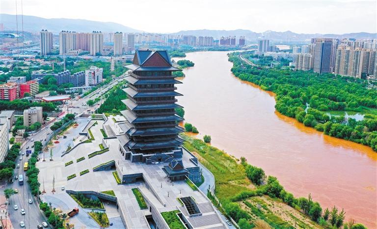 黄河楼上看黄河 历时4年打造 预计国庆节期间开始运营