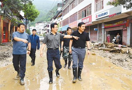 林铎在陇南检查指导防汛救灾工作