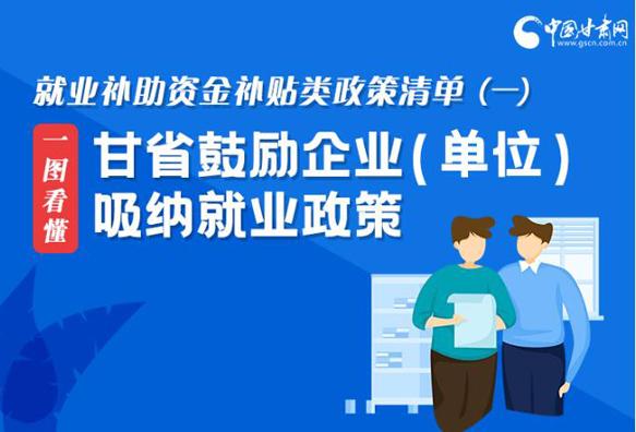 图解丨甘肃这六项补贴鼓励企业(单位)吸纳就业