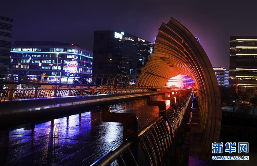 (社会)(1)上海虹桥商务区夜色