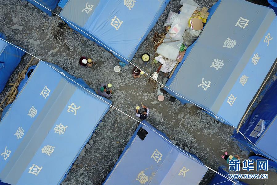 (社会)(1)甘肃陇南:受灾群众灾后生活有保障