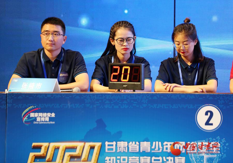 2020年甘肃省青少年网络安全知识竞赛总决赛在兰州大学举行 张掖市代表队夺冠
