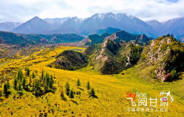【飞阅甘肃】祁连山:秋色渐浓 层林尽染