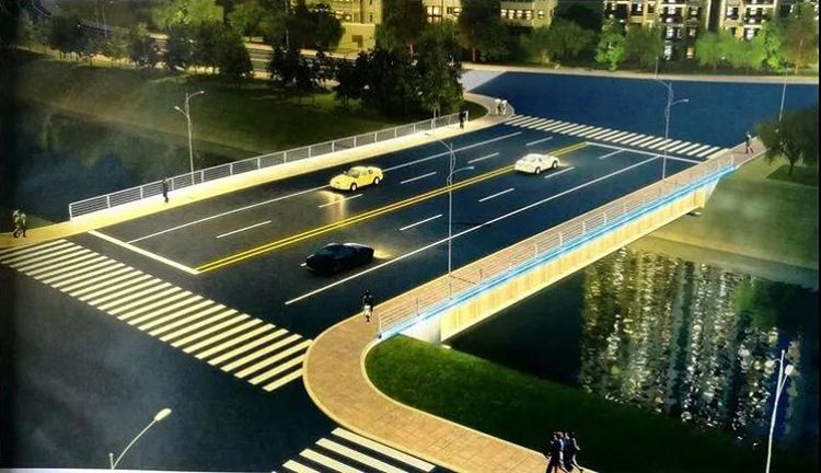新设计的秦州区罗玉河五中车行桥开建,效果图奉上!