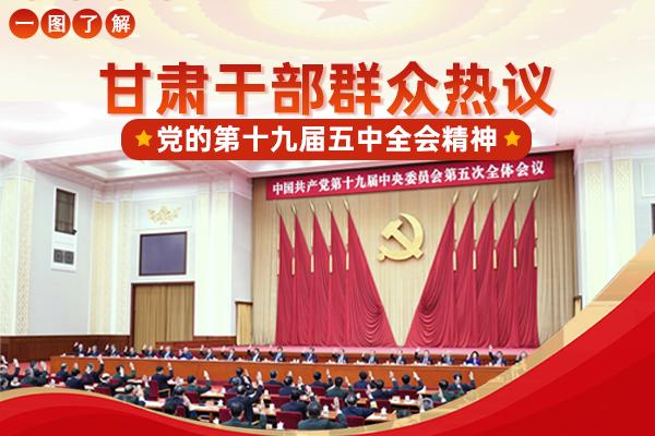 图解|甘肃干部群众热议党的十九届五中全会精神