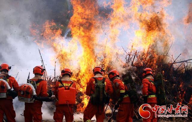 甘肃省举行重特大森林火灾灭火检验应急救援能力演习