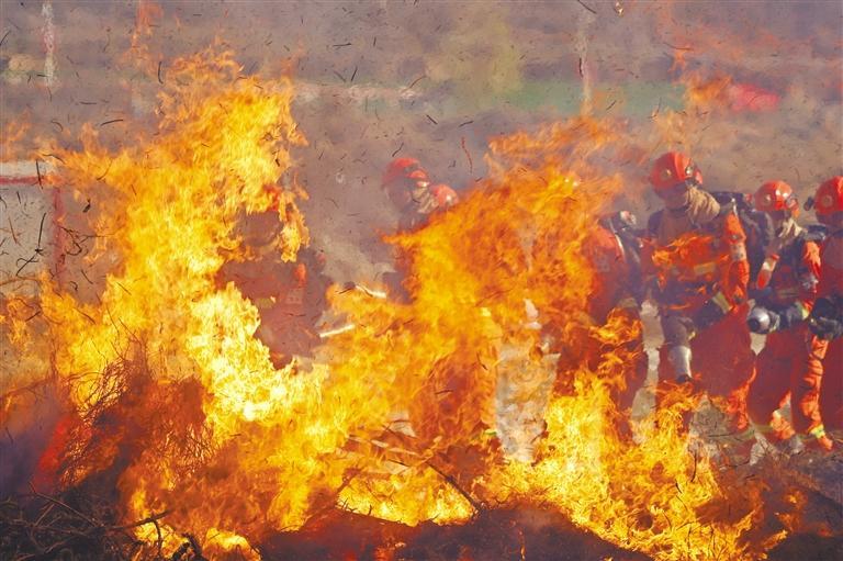 甘肃省2020年省州县联合森林火灾应急演练在迭部举行
