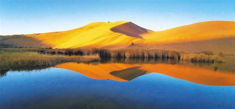"""巴丹吉林 沙漠""""止语徒步""""好去处"""