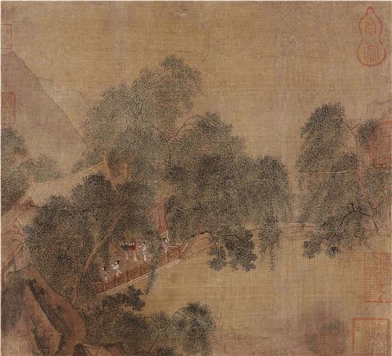 宋代山水小品画中的杨柳