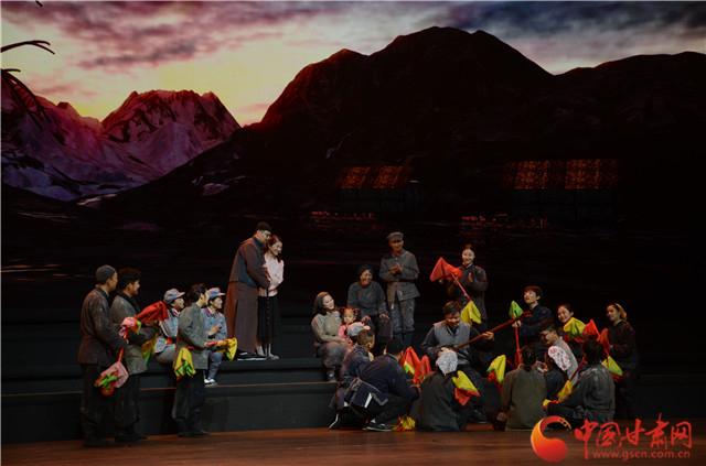 献礼建党100周年 红色音乐剧《焉支花开》在金昌市首演获赞