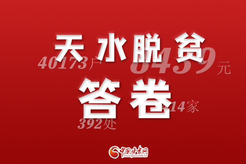 【中国的脱贫智慧】9张海报,看脱贫攻坚的天水答卷