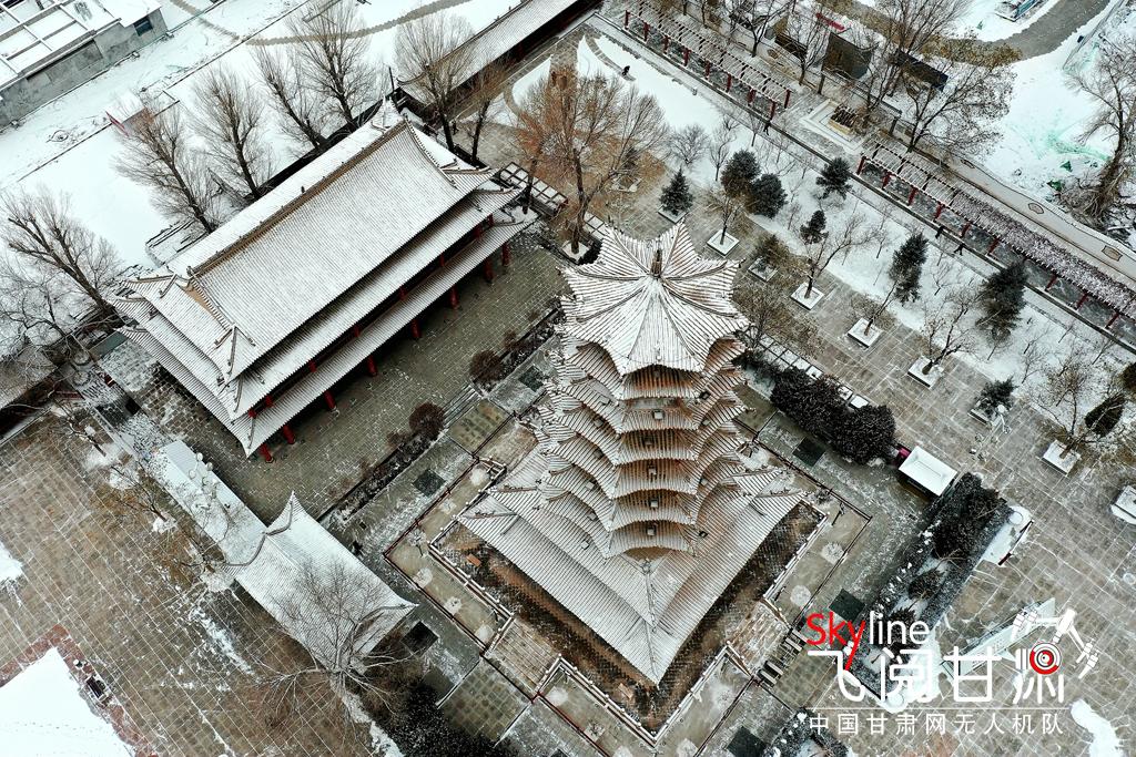 【飞阅甘肃】张掖甘州:雪落古城冬韵浓