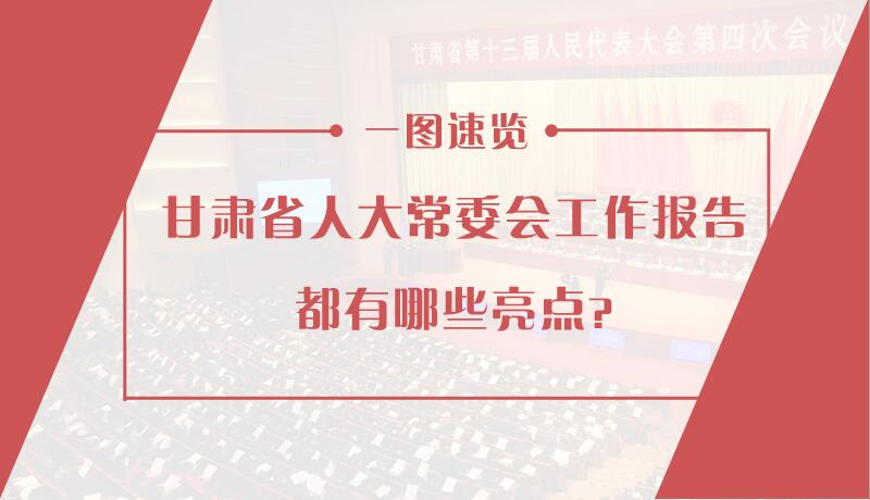 甘肃省人大常委会工作报告都有哪些亮点 一图速览!