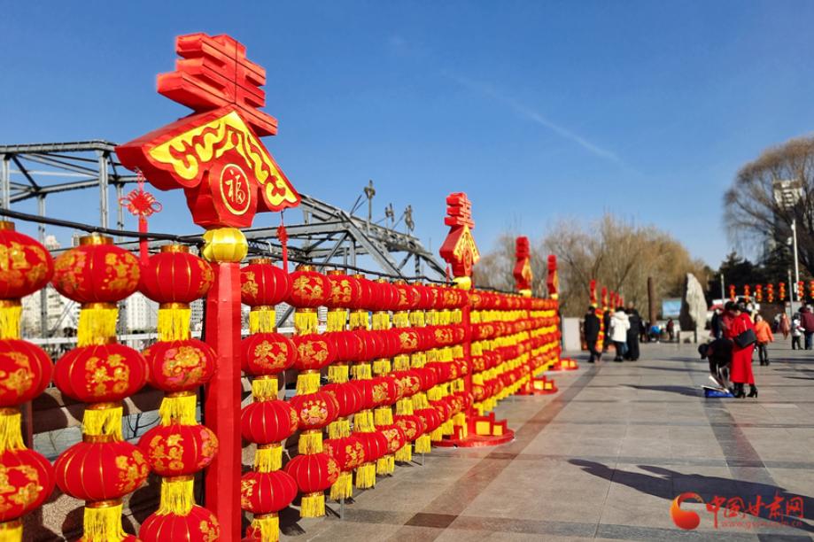 【新春走基層】蘭州︰百年中山橋紅紅火火迎新春