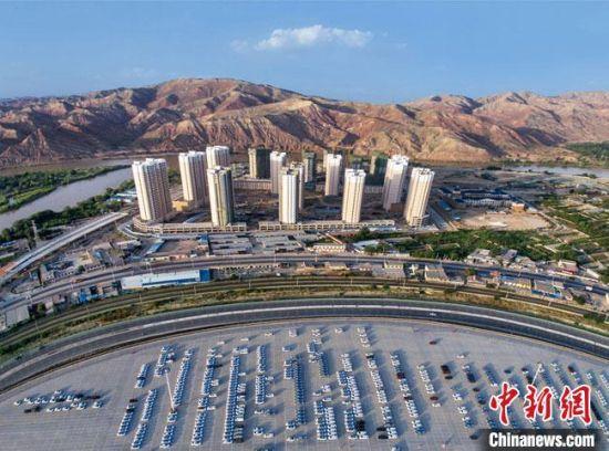 图为甘肃(兰州)国际陆港航拍图。(资料图)甘肃(兰州)国际陆港供图