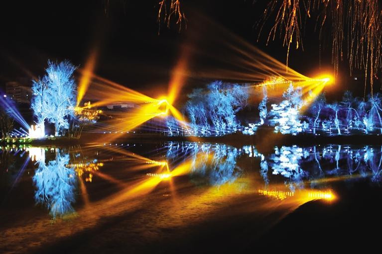 张掖市甘州区甘泉公园大型文创光影艺术节