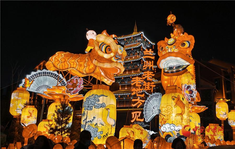 【网络中国节·春节】 兰州:非遗相伴过大年 张灯结彩庆新春