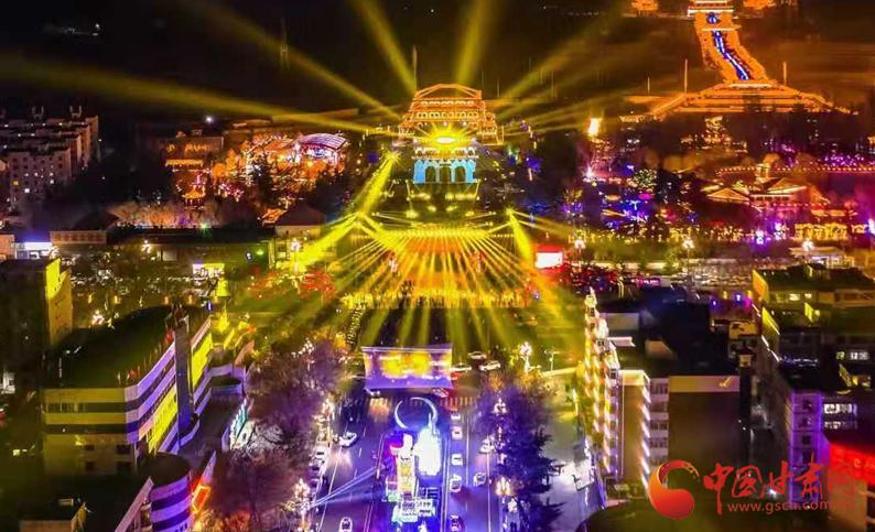 【网络中国节·元宵】牛年新春元宵夜:兰州城区花灯璀璨绽放