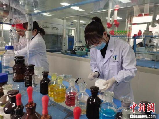 兰州高新区兰州天禾生物催化技术有限公司生产的实验室里科研人员在做研究。(资料图) 龚智宏 摄