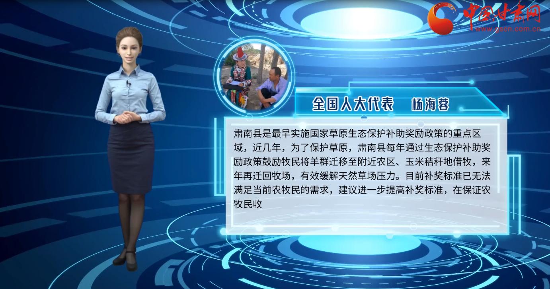 """【AI观两会】首次连线看甘肃代表委员如何解读""""生态保护"""""""