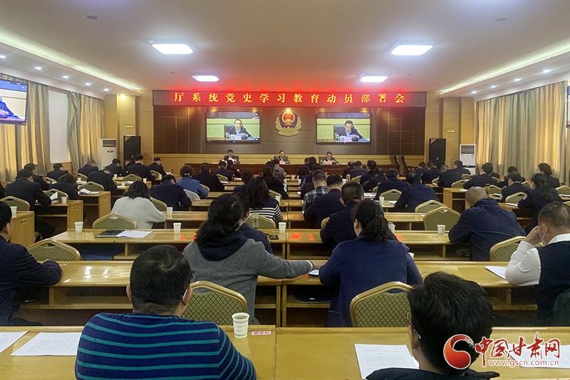 甘肃省司法厅召开厅系统党史学习教育动员部署会