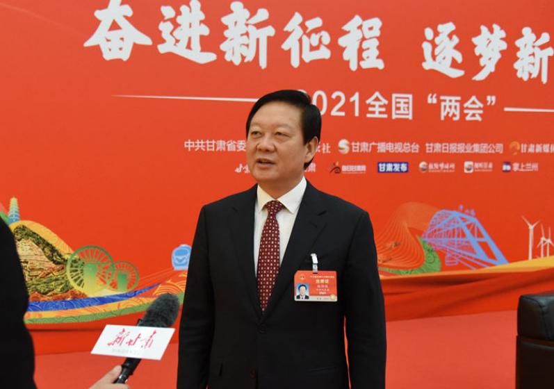 【聚焦全国两会】全国人大代表、张掖市委书记杨维俊在北京全国两会现场接受新甘肃·甘肃日报记者专访