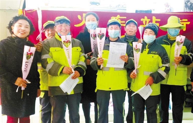 【三八特别报道】慰问一线女职工和环卫工人