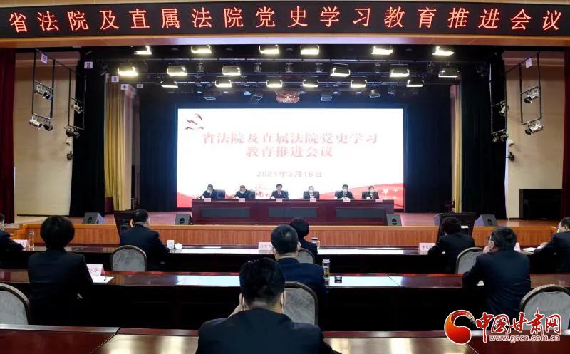 甘肃省法院召开党史学习教育推进会议