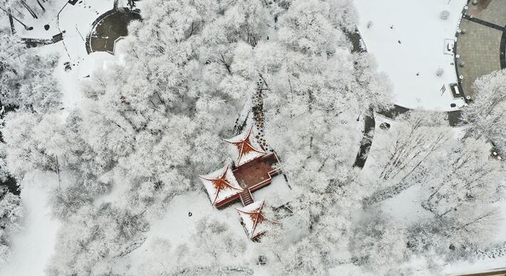 """【""""飞阅""""中国】祁连山下春雪飞"""