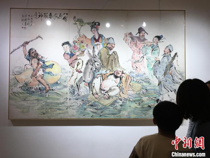 中国指画虞氏三代作品展在武汉开幕