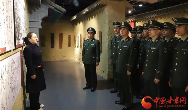 """陇南武警:追寻红色足迹,在红军长征""""加油站""""汲取奋进力量"""