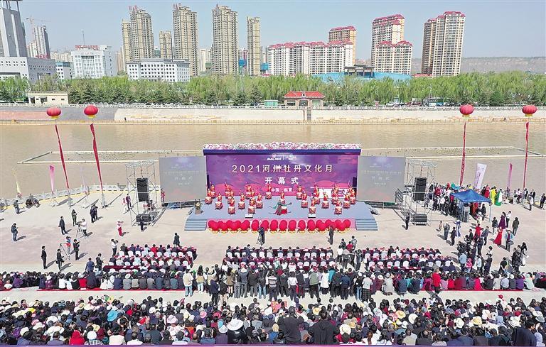二〇二一河州牡丹文化月开幕