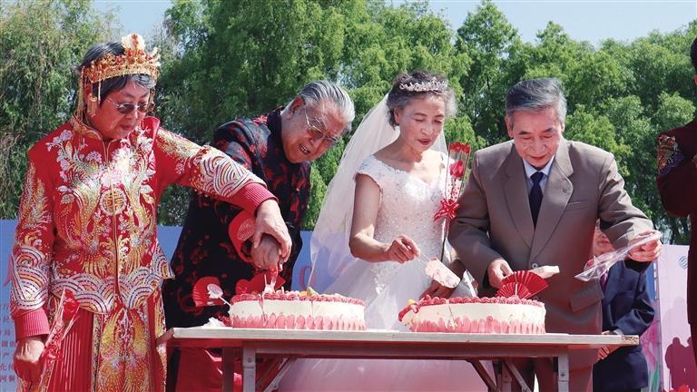 """百对金婚老人5.20举行""""集体婚礼"""""""