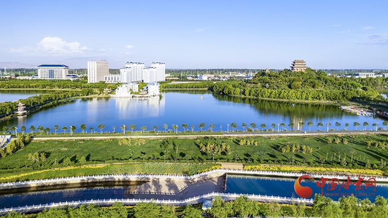 临泽:生态水系为美丽乡村添彩