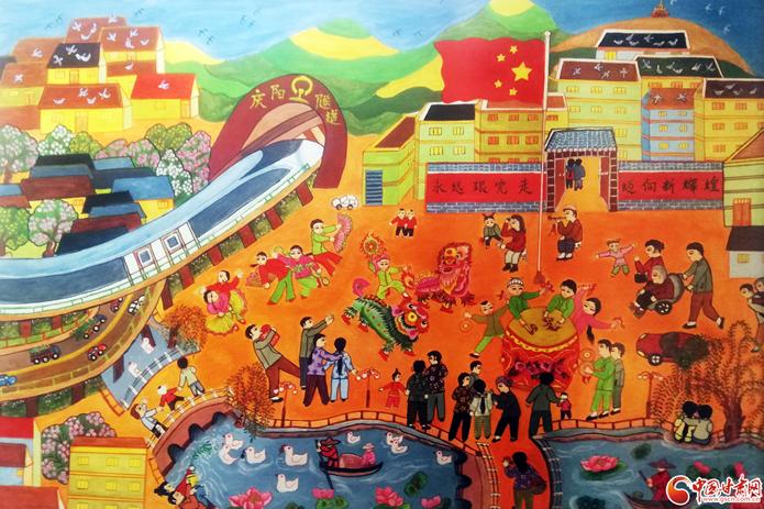 甘肅農民畫作品展在蘭開展