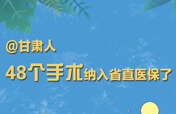 海报丨@甘肃人 48个手术纳入省直医保了