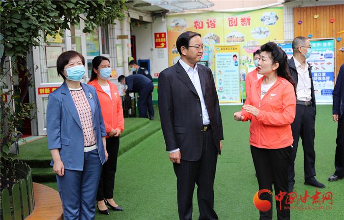 甘肃省副省长张世珍调研省商务厅幼儿园开园准备工作
