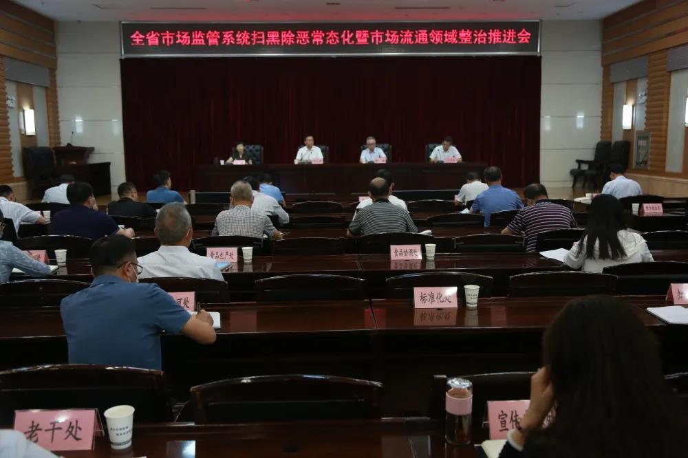 甘肃省市场监管局召开扫黑除恶常态化暨市场流通领域整治推进电视电话会议
