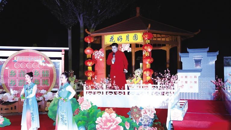 兰州皋兰县:中秋节晚会送到群众家门口