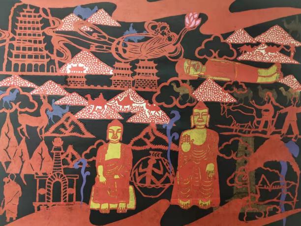 吴峰天工艺美术设计及重刻剪纸艺术作品展在武威举办