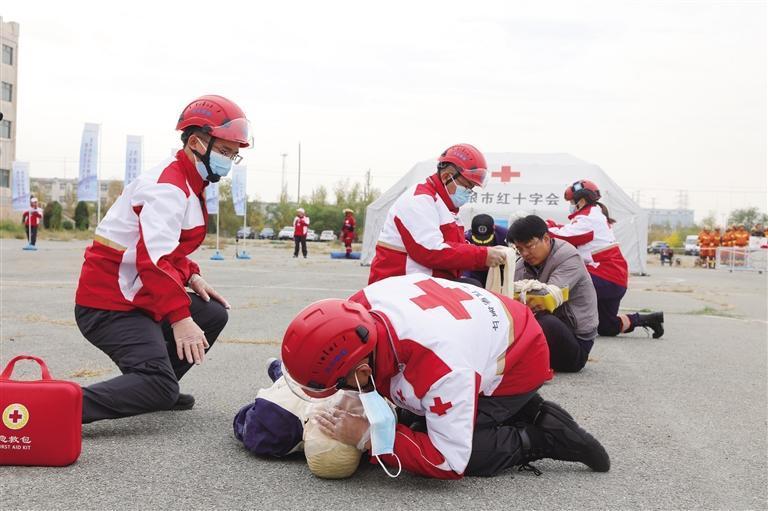 甘肃省红十字会组织地震灾害应急救援综合演练
