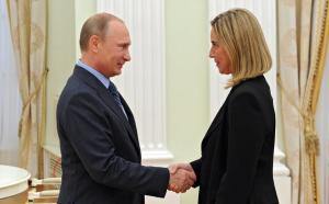 俄罗斯总统普京会见到访意大利美女外长