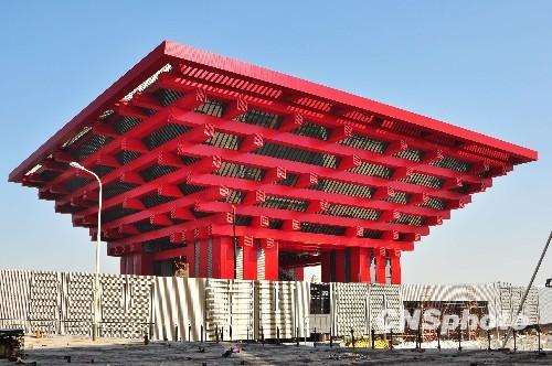 2月8日,上海世博会中国馆竣工.图为2009年10月20日拍摄的世博会