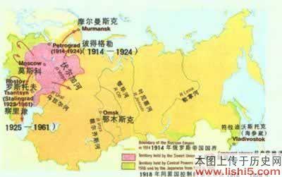 俄罗斯的扩张地图