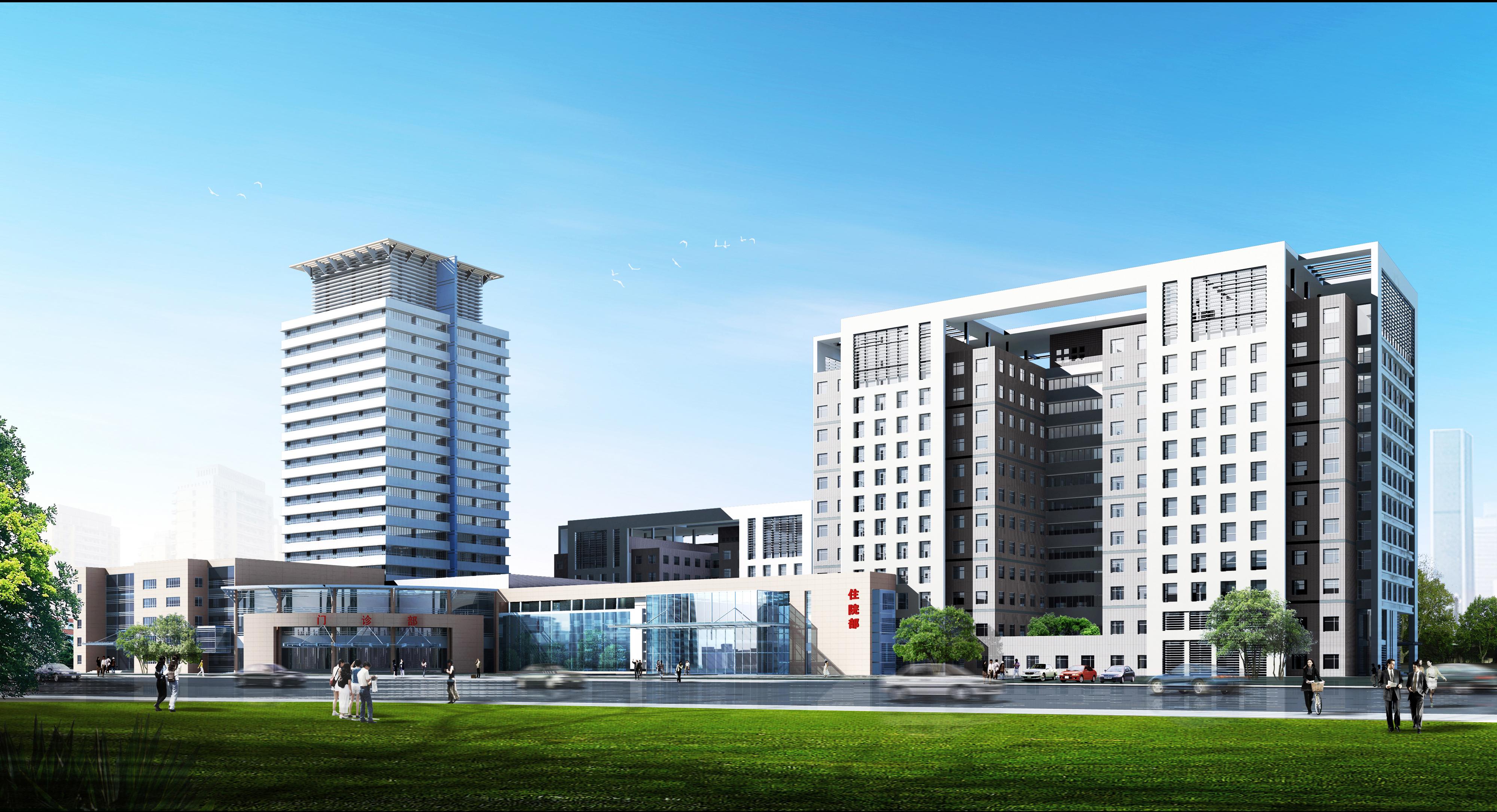 医院办公建筑效果图