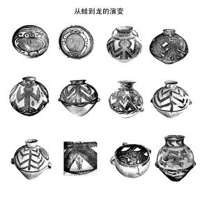 古代彩陶矢量图